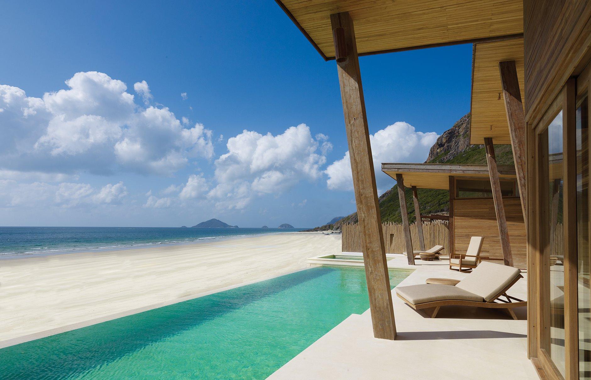 Vietnam beach pool villa premium